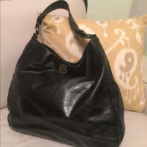 Tory Burch   Black Patent Leather - Hobo Bag